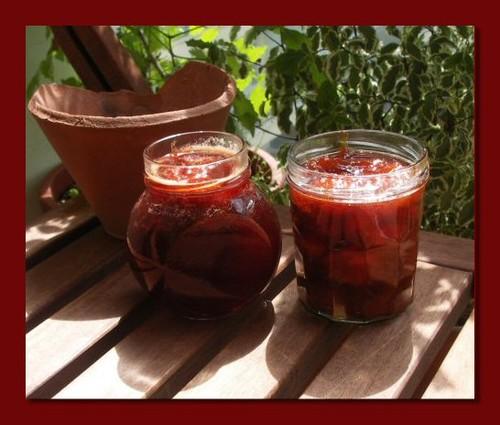 Confiture abricots fraises