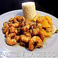 Crevettes a l'aigre doux