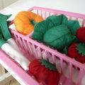 Petits légumes en feutrine
