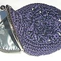 Porte monnaie à crochet/ monedero de ganchillo / purse crochet