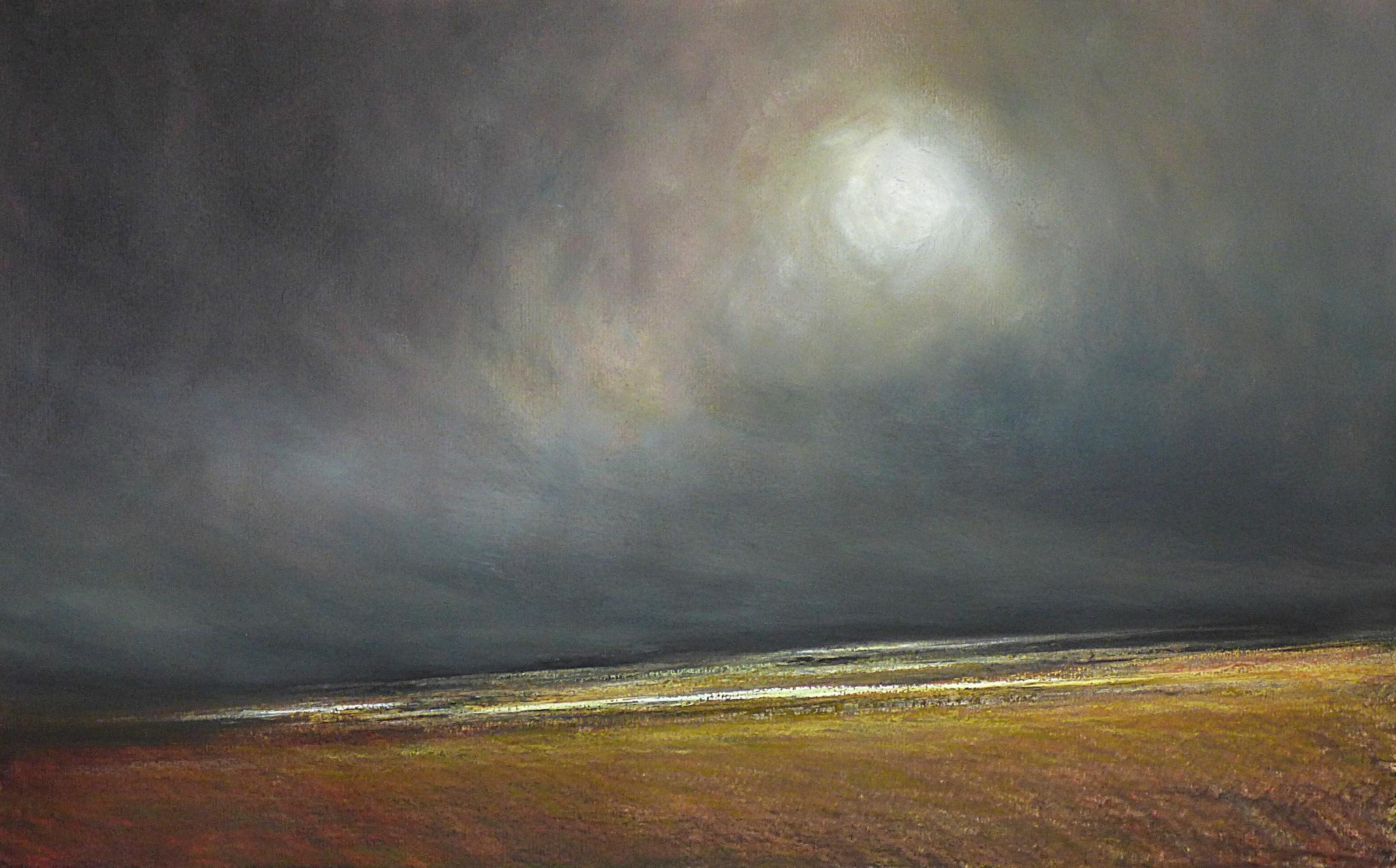 Horizon Elévation #74, juillet 2016, pastel à l'huile, 48 x 32 cm