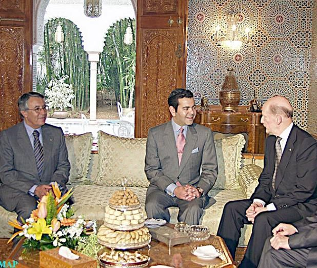 HRH Prince Moulay Rachid and King Siméon Saxecobourgotski, March 17, 2005