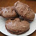 Cookies façon macarons au chocolat.