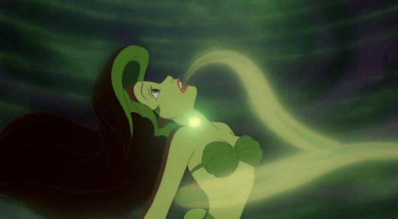 Ursula prend possession de la voix d'Ariel