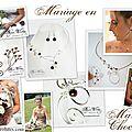 Bijoux de mariée avec perles marron chocolat, mariage original en marron