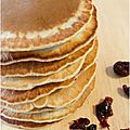 ..Pancakes  la farine de chtaigne et canneberges sches..