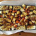 Légumes rôtis au curry, sésame et aromates