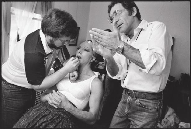 "Seen Behind the Scene Dustin Hoffman in ""Tootsie"" in the dressing room"