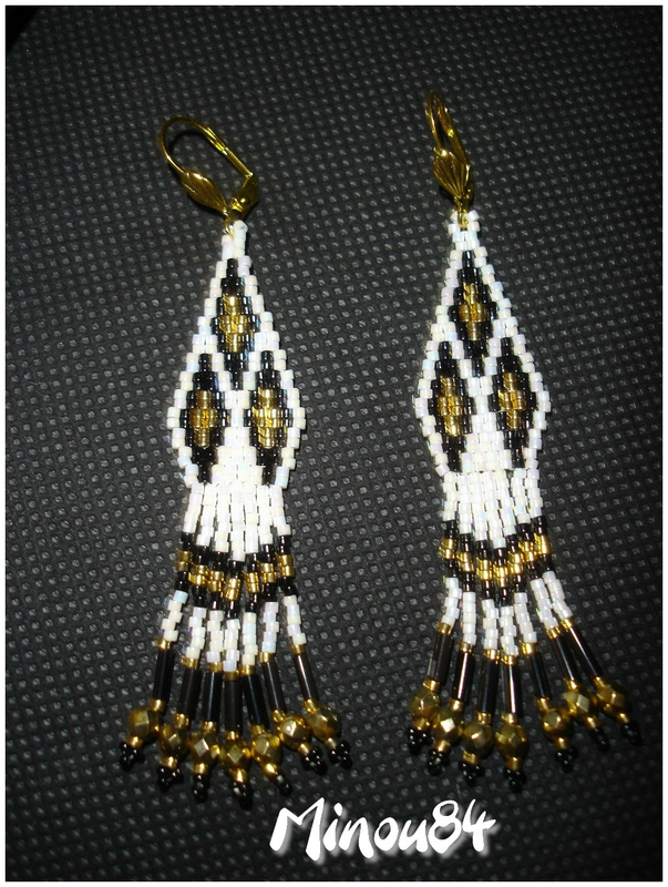 Native American noir et blanc