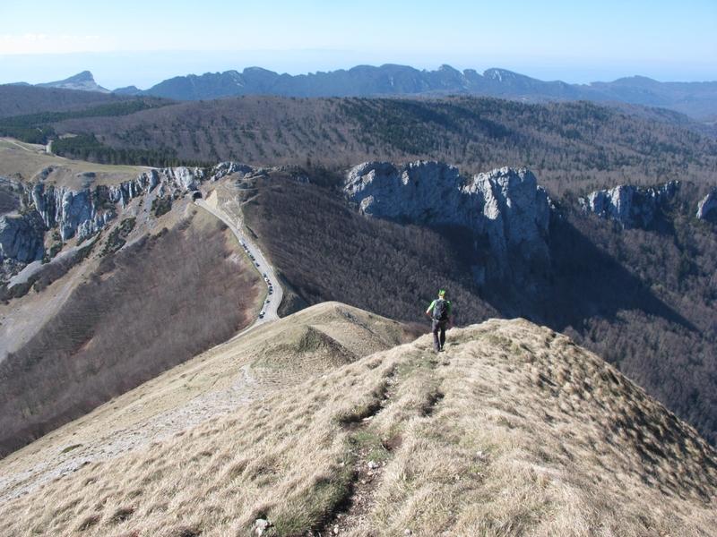 Roc de Toulau, descente