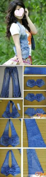 veste a partir d'un jean