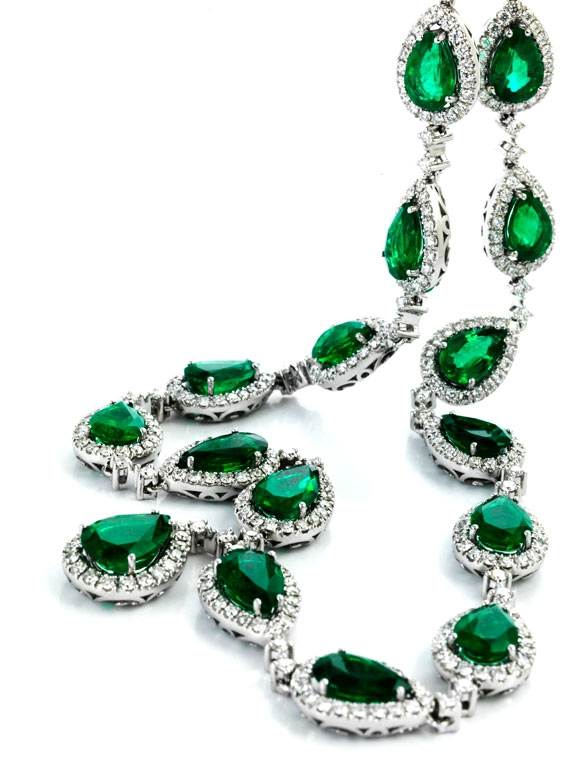 Zambian Emerald And Diamond Necklace Alain R Truong