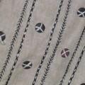 sac lin et boutons - détail