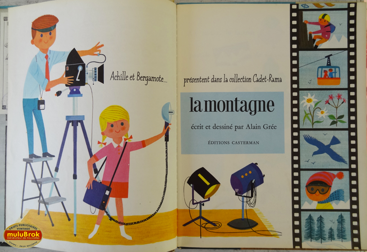 livre album la montagne 1966 par alain gr e. Black Bedroom Furniture Sets. Home Design Ideas