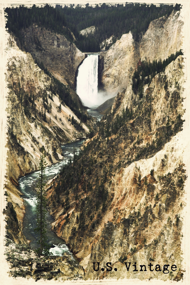us vintage yellowstone river