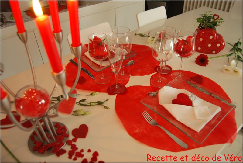 Table de saint valentin recette et d co de v ro for Deco saint valentin