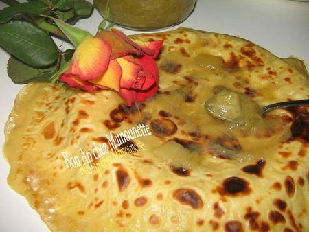 Confiture de rhubarbe du jardin et crêpes crêpière bretonne 006
