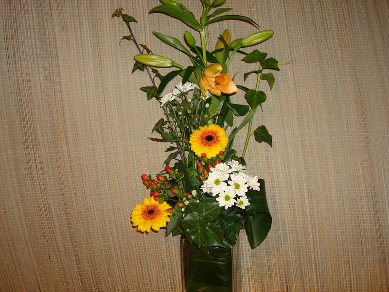 composition florale toute simple cryptomeria. Black Bedroom Furniture Sets. Home Design Ideas