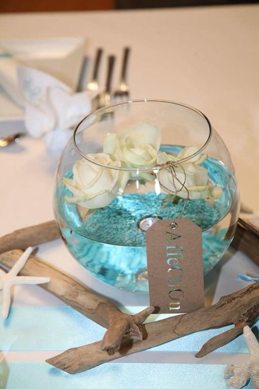 Urne mariage th me les iles les cr as de ptitemouse for Decoration urne de mariage