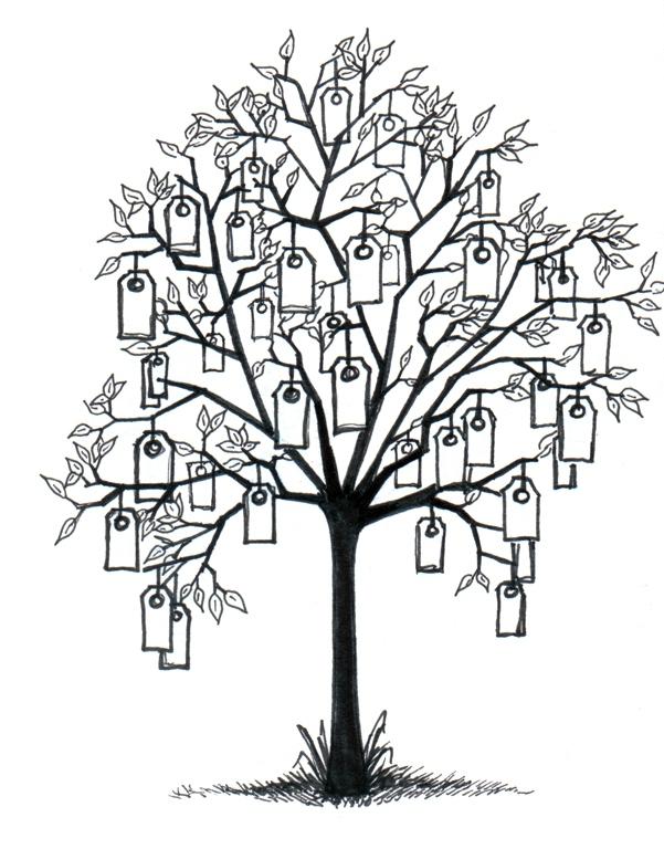 Un arbre souhaits points de cerise violette - L arbre a souhait ...