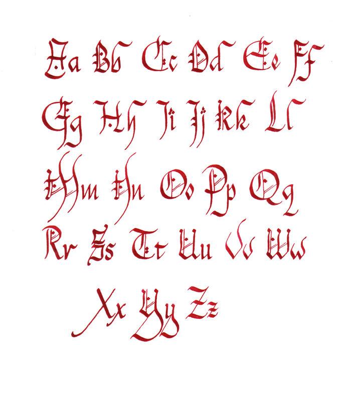 Alphabet chanceli re l 39 association emily calligraphy - K en majuscule ...
