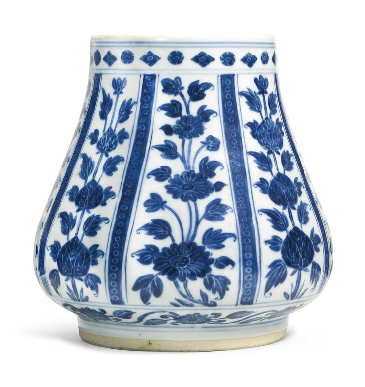 A blue and white 'Floral' jar for the islamic market, 17th century