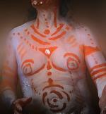 peiture corporelle tribale chamane peuple premier