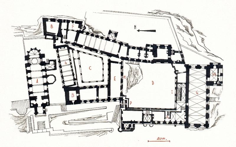 Plan_du_palais_des_Papes_d'Avignon_par_Joseph_ROSIER