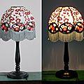 Lampe de chevet, papier népalais et japonais,