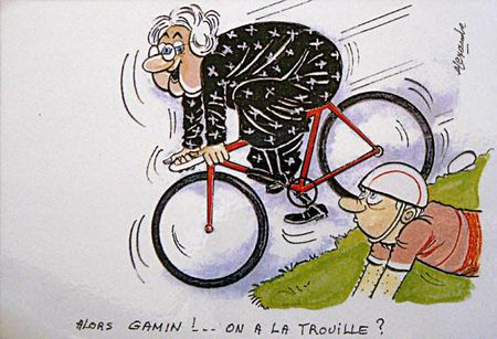 gamin vélo trouille