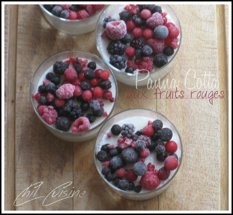 panna cotta coco fruits rouges