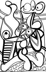 Grande nature morte sur guéridon- Picasso