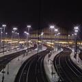 Paris - Rails de nuit à la gare du Nord