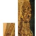 Les différentes pièces de joaillerie de la robe