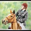 Couple lors du Championnat de France d'équitation, 2009 : aquare