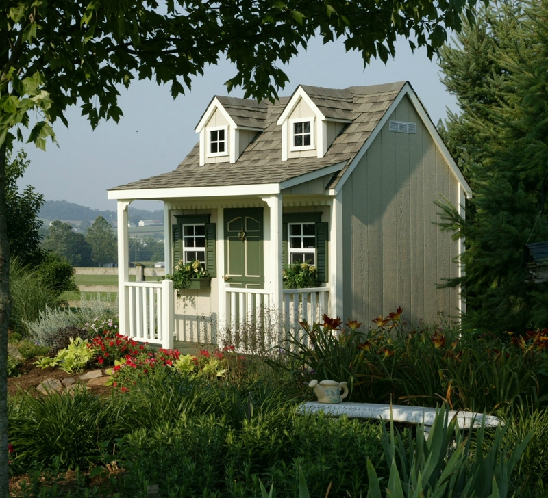 garden-stunning-image-of-garden-yard-landscaping-decoration-using-small-light-grey-and-white-nuance-cottage-garden-shed-including-white-wood-front-porch-railing-and-light-grey-wood-siding-beautiful-im