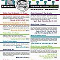 Programme des activités 2014-2015 !