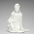 A blanc-de-chine figure of Guanyin, 18th century