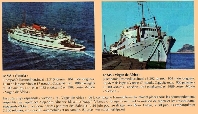 Navires espagnols -Oran 1962