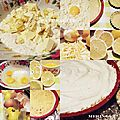 Preparation tarte citron/meringue