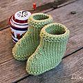 Des petits chaussons au tricot (tuto inside)