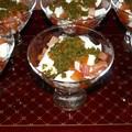 Verrines tomates/mozza