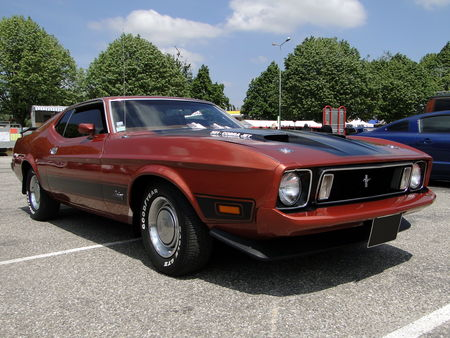 FORD Mustang Mach 1 351 Cobra Jet Fastback Coupe 1973 Fun Car Show Illzach 2010 1