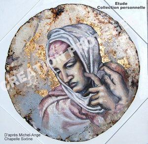 Etude Marie Chapelle Sixtine d'après Michel-Ange