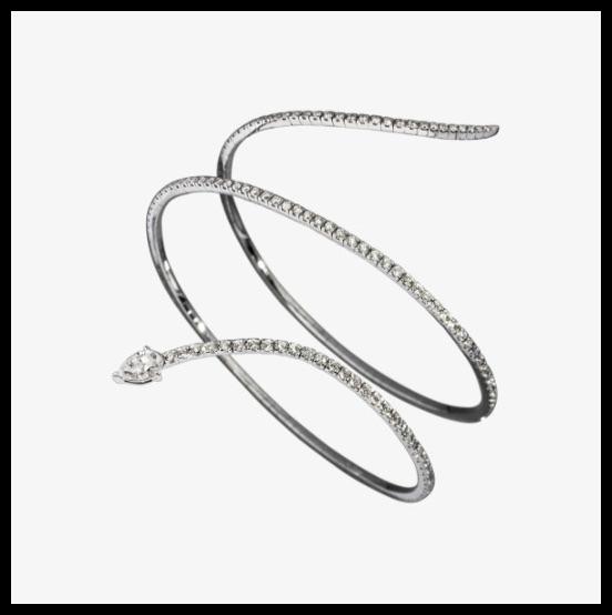 messika skinny snake bracelet 2 rangs