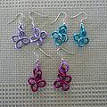 Boucles fleurs 3 euros la paire, couleur au choix