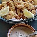 Calamars a la romaine sauce a l'aneth