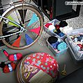 Customisation de velo en yarn bombing ou l' urban knitting bike ep.11