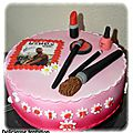 Gâteau maquillage et kendji
