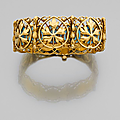 An enamel and gold bracelet by alexis falize, circa 1880